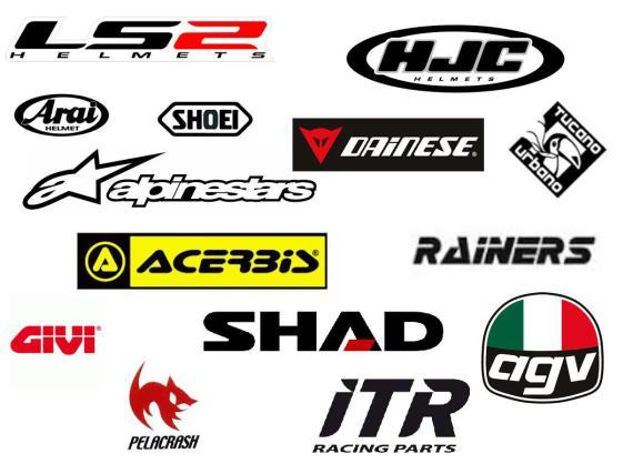 logos accesorios y repuestos motos