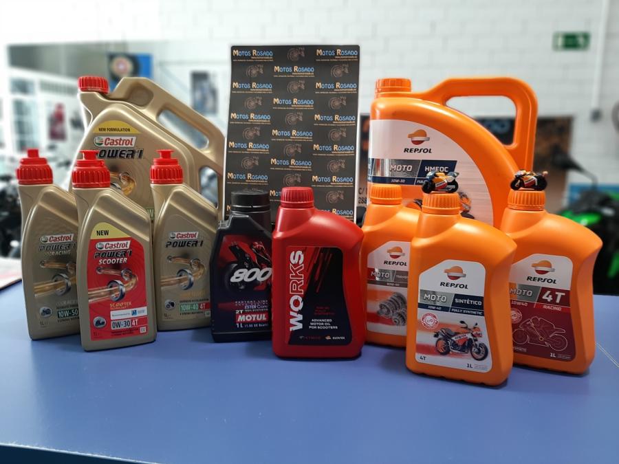 aceites y lubricantes para motos