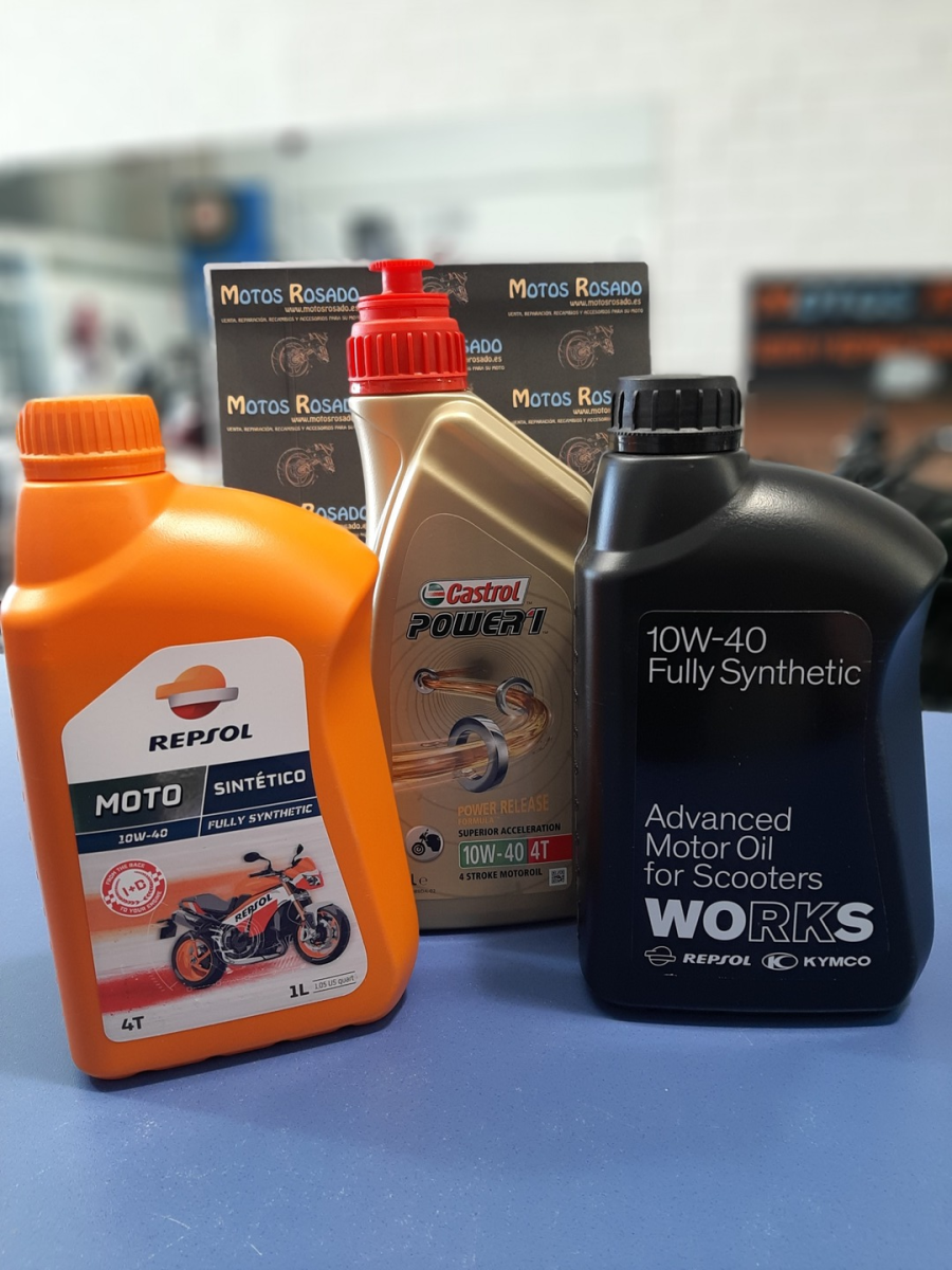 aceites y lubricantes para motos 10w 40