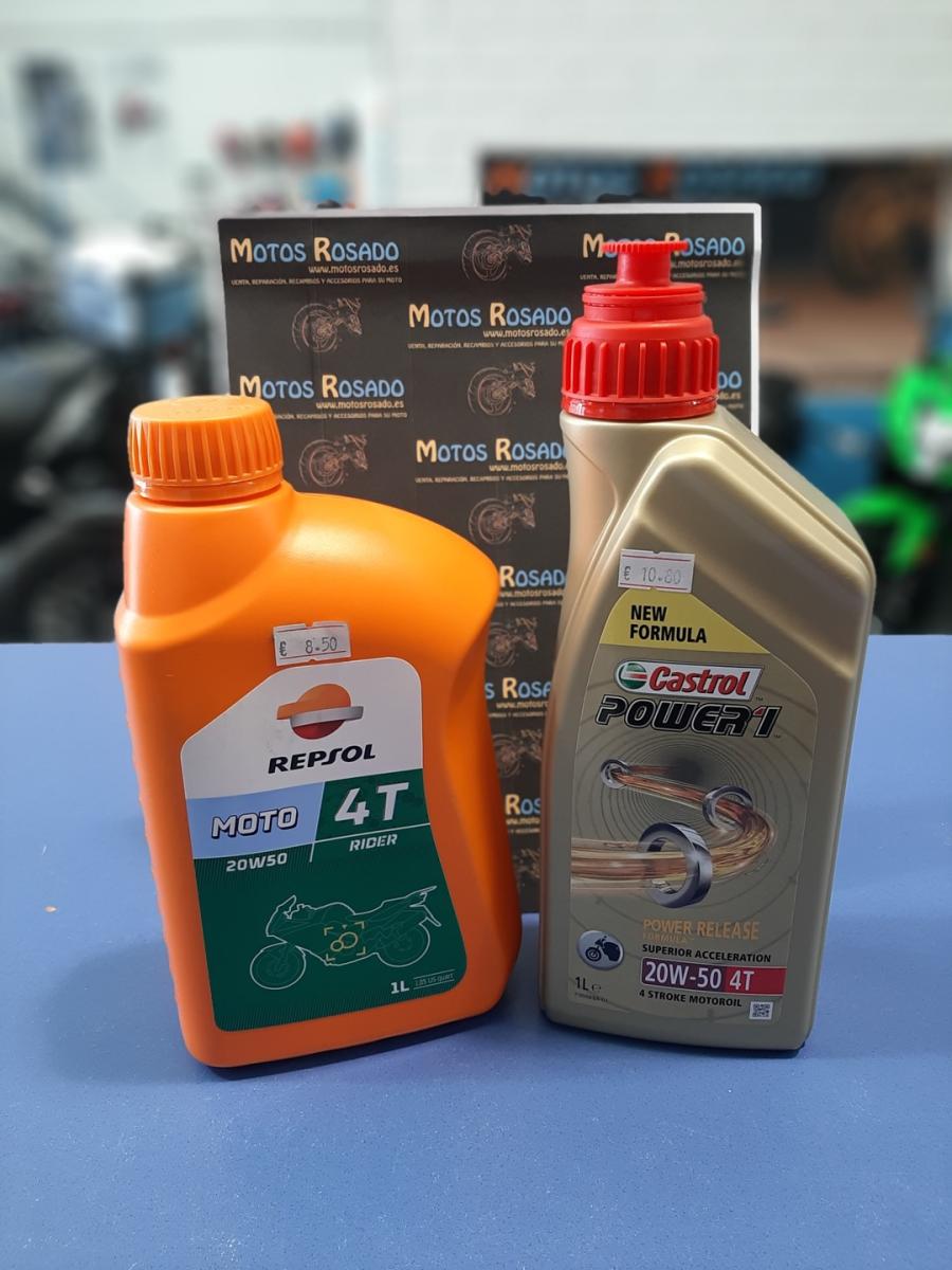 aceites y lubricantes para motos 20w 50