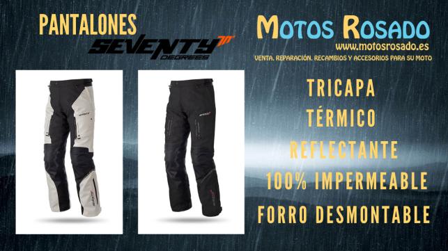 pantalones seventy para motos