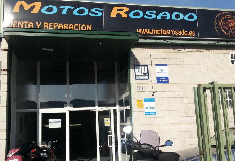 taller de motos rosado