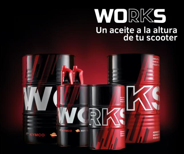 aceite works para motos kymco
